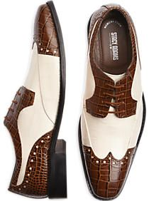 Stacy Adams Brown & White Wingtip Oxford Shoes