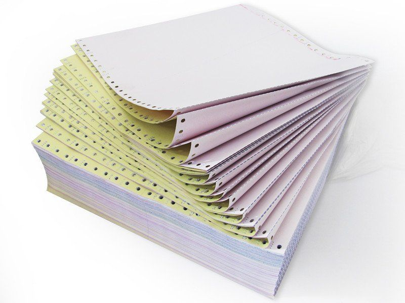 241mm Carbonless Continuous Paper Form History Of Paper Paper History