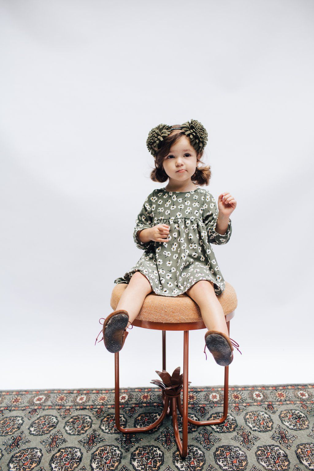 The mini dress in olive floral toddler girl style girls dresses