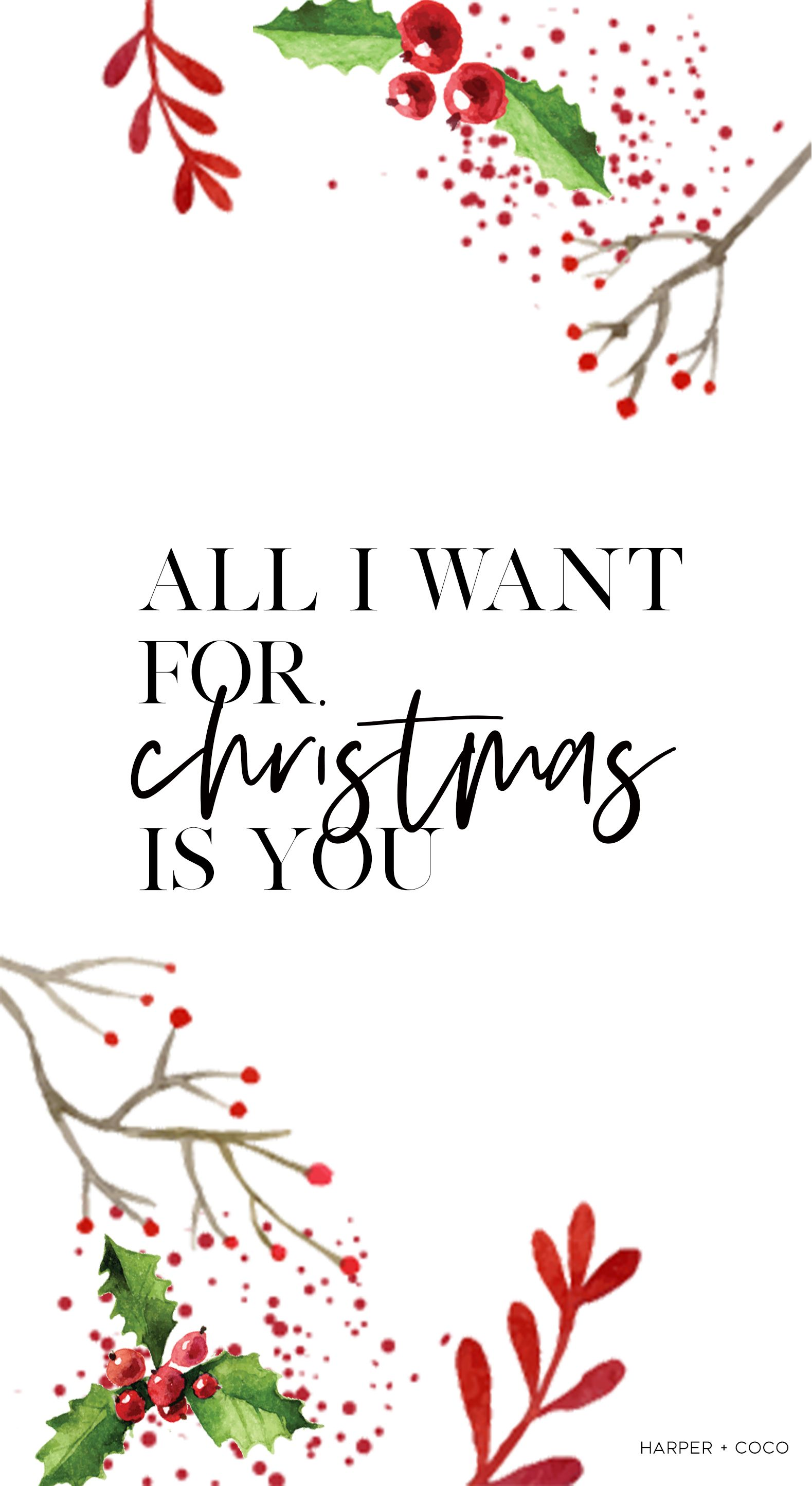All I Want For Christmas Is You Christmas Wallpaper Redchristmas Christmasw Wallpaper Iphone Christmas Christmas Wallpaper Christmas Wallpaper Backgrounds