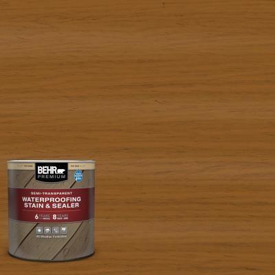 Behr Premium 1 Qt St 134 Curry Semi Transparent Waterproofing