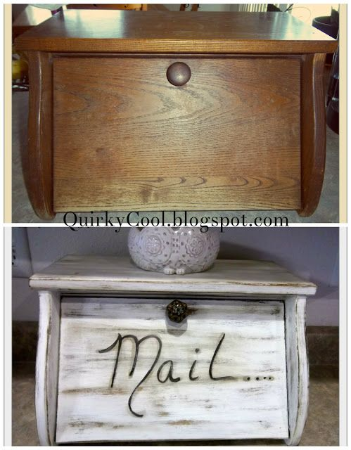 Quirky Cool Upcycled Bread Box Diy Kitchen Decor Bread Boxes Diy Furniture