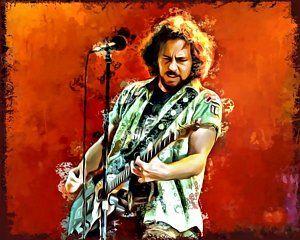 Eddie Vedder Digital Art Eddie Vedder Painting By Scott Wallace Eddie Vedder Eddie Pearl Jam Eddie Vedder