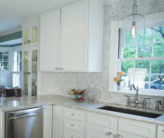 Discount glass tile store herringbone marble mosaic for Carrara marble per square foot