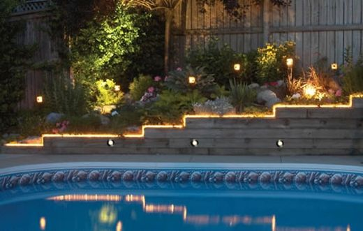 How To Use Outdoor Rope Lights Outdoor Rope Lights Deck Lighting Outdoor Steps