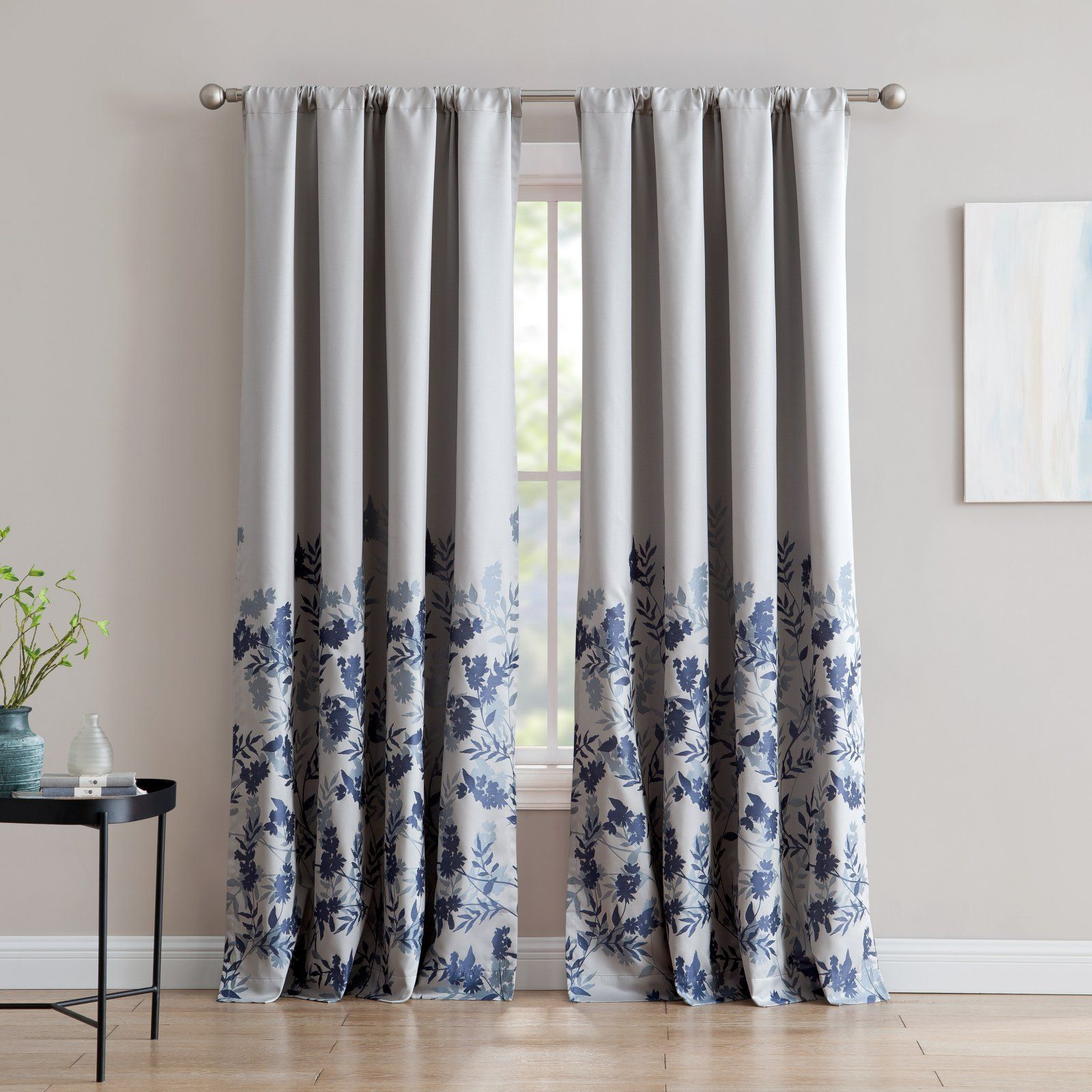 Inspired Surroundings Isabelle Jacquard 84 In Rod Pocket Curtain