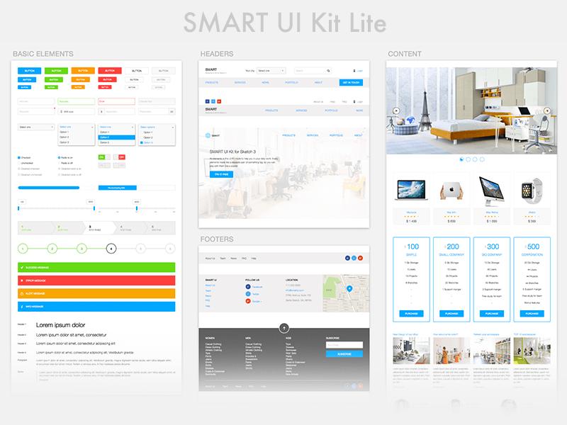 Smart ui kit lite free sketch app resources pinterest ui kit smart ui kit lite ccuart Image collections