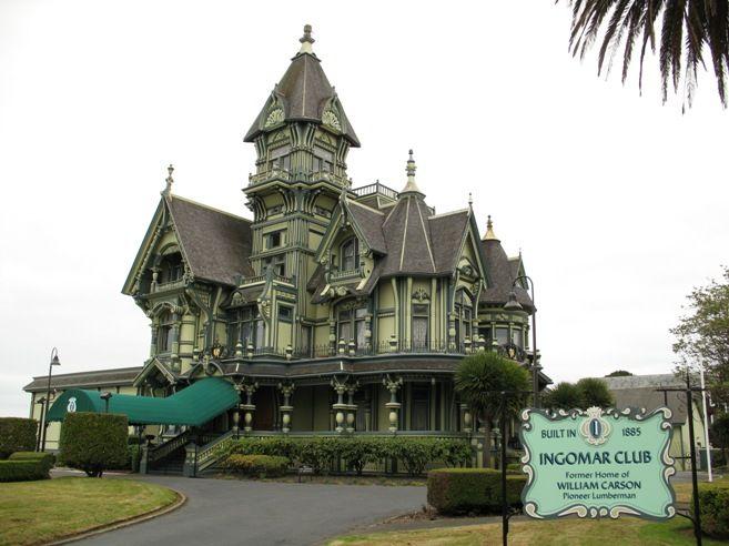 Carson Mansion Eureka, California Ingomar Club House ...