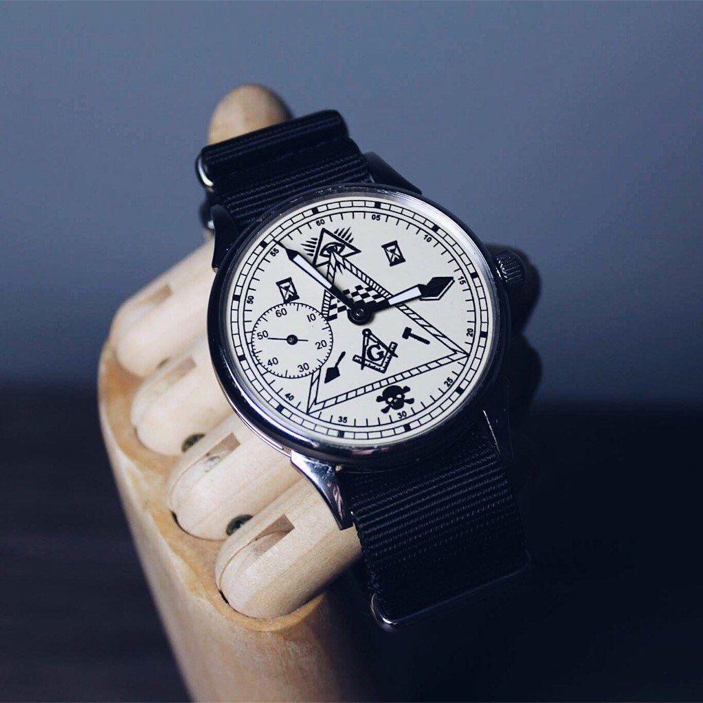 Watches for men, soviet watch, vintage watch, MASONIC watch