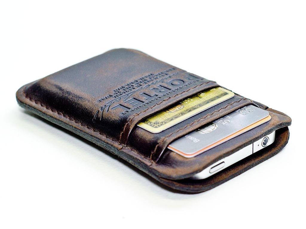 Masculine (but I still want it) Handmade Leather iPhone Wallet