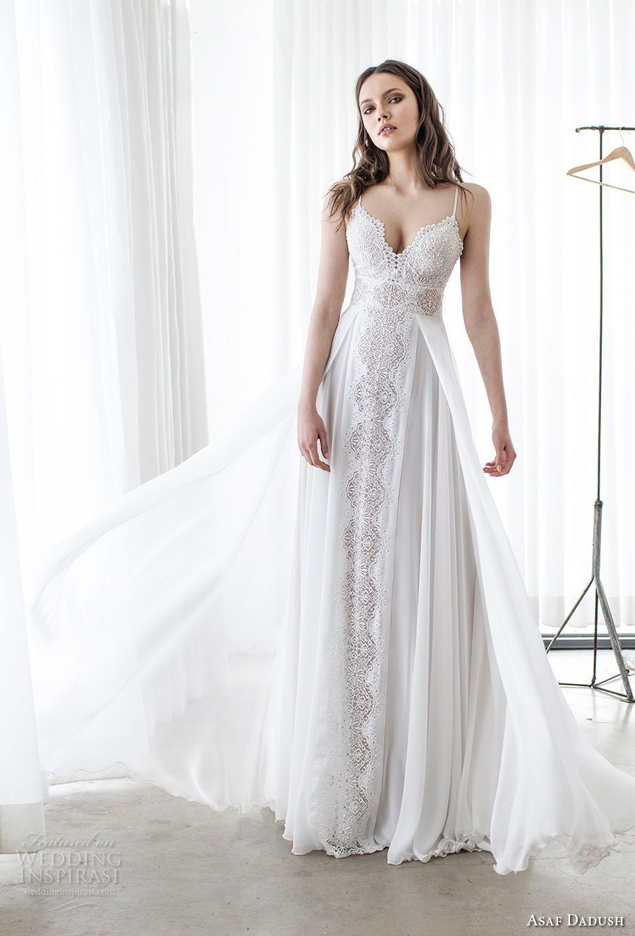 Asaf dadush wedding dresses bodice neckline and romantic