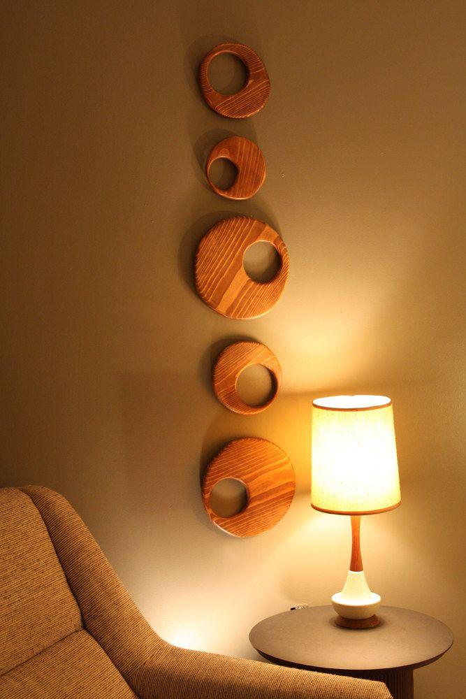 Mid Centurydanish Modern Wood Circle Wall Art Sculpture Via Etsy