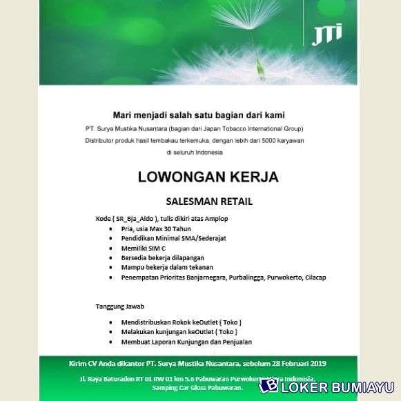 Lowongan Kerja Pt Surya Mustika Nusantara Produk Tanggal Kiwi