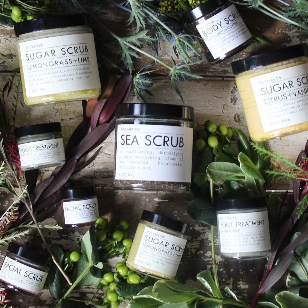 Soft, smooth skin? Yes, please. Our polishing + nourishing SEA SCRUB? Must-have.  Head to @wmag to see why editors are giving this body scrub a big #beauty seal of approval! // #natural #artisanal #apothecary #FIGandYARROW (organic)