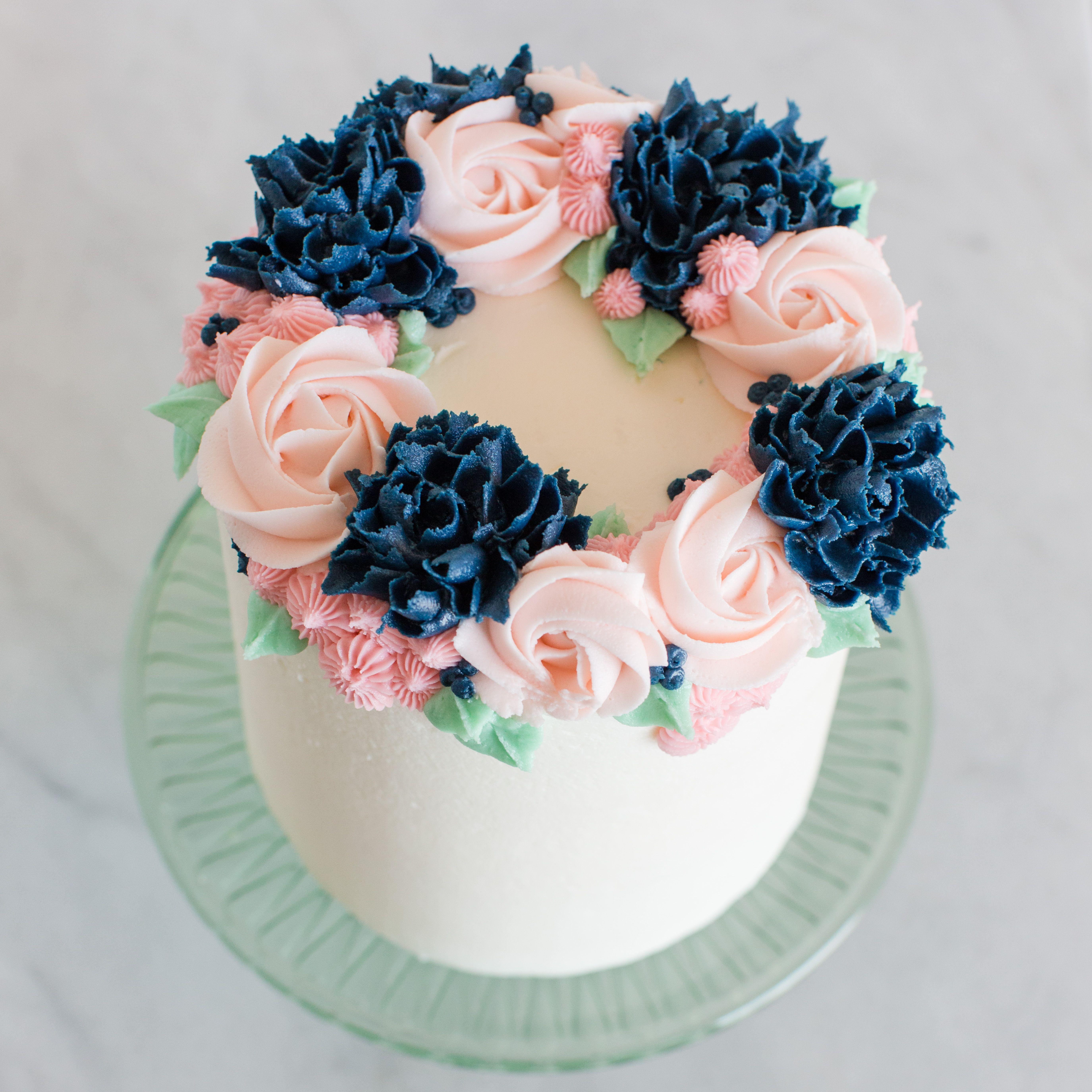 Flower Market Flower Cake Happy Birthday Flower Cake Floral Cake