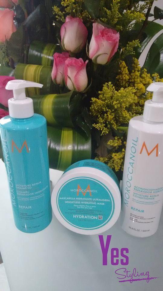 En #YesStylingLa contamos con la línea de productos #Moroccanoil, que se caracteriza por ser muy exclusiva y la cual cuenta con ingredientes únicos de extrema hidratación para mantener un cabello saludable ¡Tienen que probarlos! #HairStyle