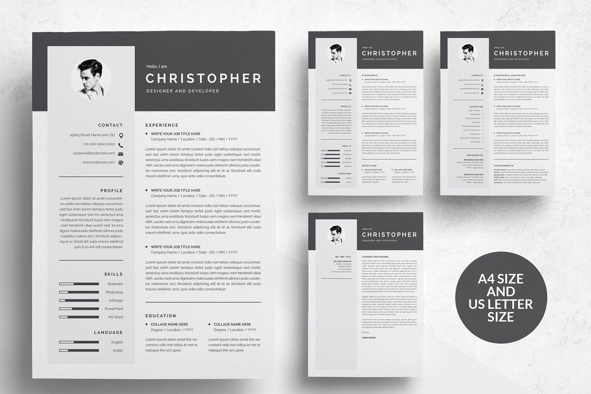 Ad 3 Pages Modern Resume Template Cv By Templateforest On Creativemarket File Information This Modern Resume Template Resume Template Resume Design Template
