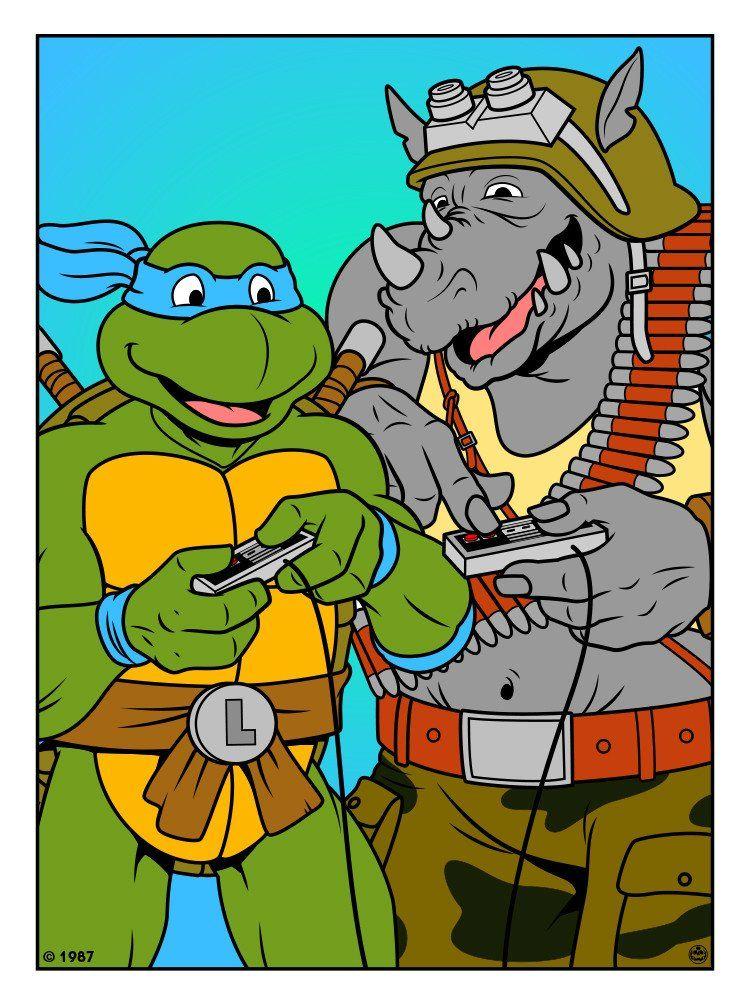 Best friends une s rie d 39 illustrations par matthew skiff illustration graphisme tortues - Mechant tortues ninja ...