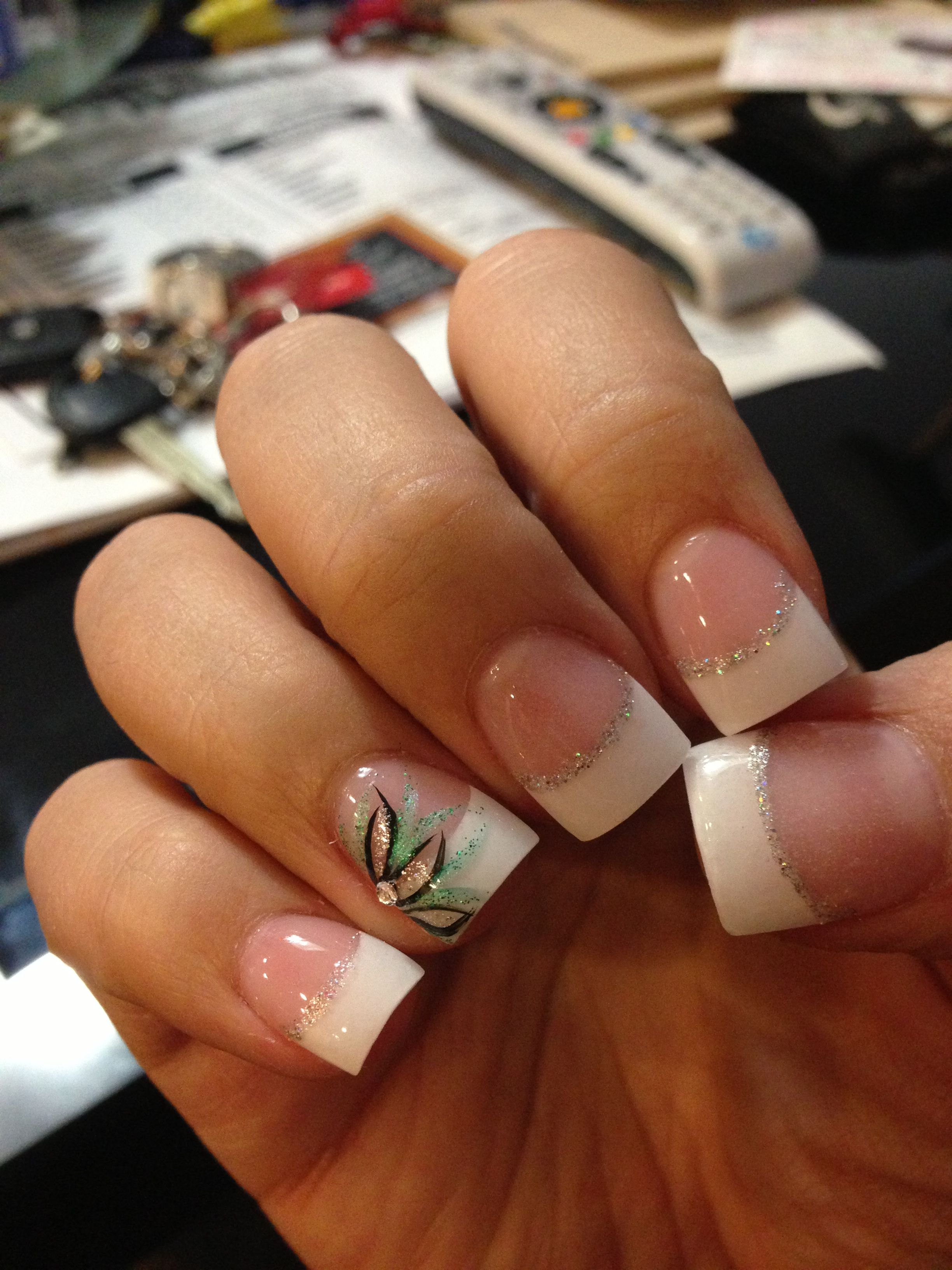 My prom nails! I loved them :) | Nails | Pinterest | Uñas lindas ...