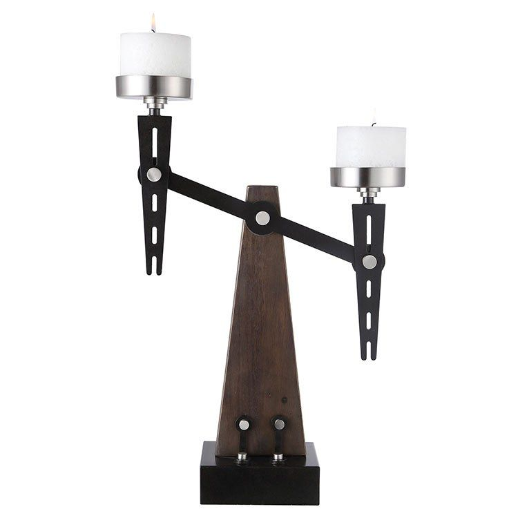 Uttermost 17554 Cardiff Industrial Candle Holder By John Kowalski Metal Candle Holders Candle Holders Pillar Candles