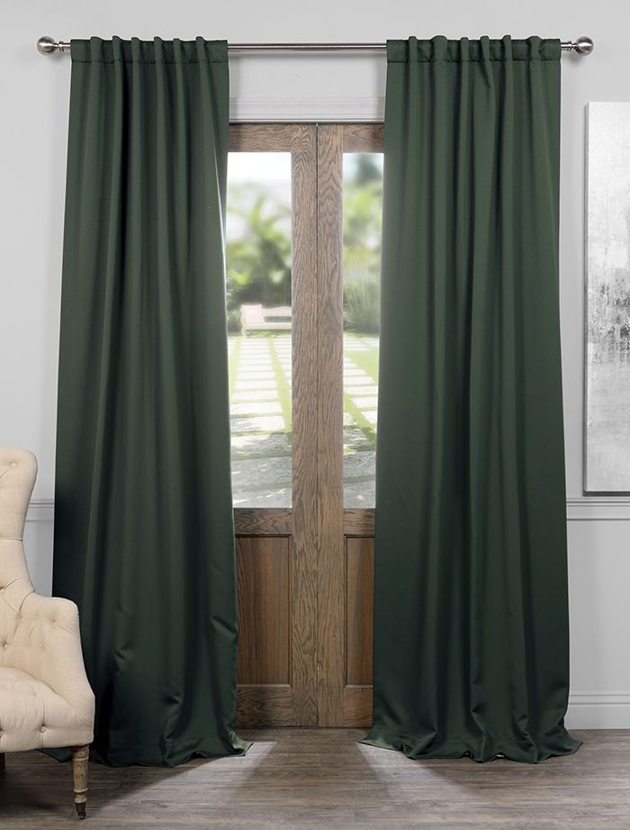 Get Dark Mallard Green Blackout Room Darkening Curtain Panel