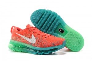 sports shoes a7a88 42d38 Nike Flyknit Air Max Australia Womens Running Shoes Orange Red Blue Green  Sale