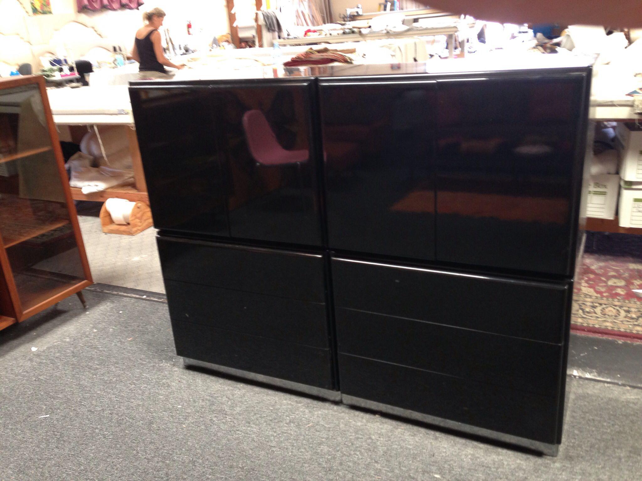 Milo Baughman for Thayer Coggin black lacquer bedroom set