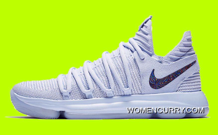 570405e373f9 New Nike KD 10  Anniversary  Faint Blue Multi