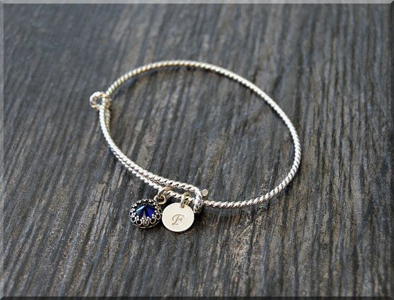 Personalized September Sterling Silver by thewrappedpixie on Etsy