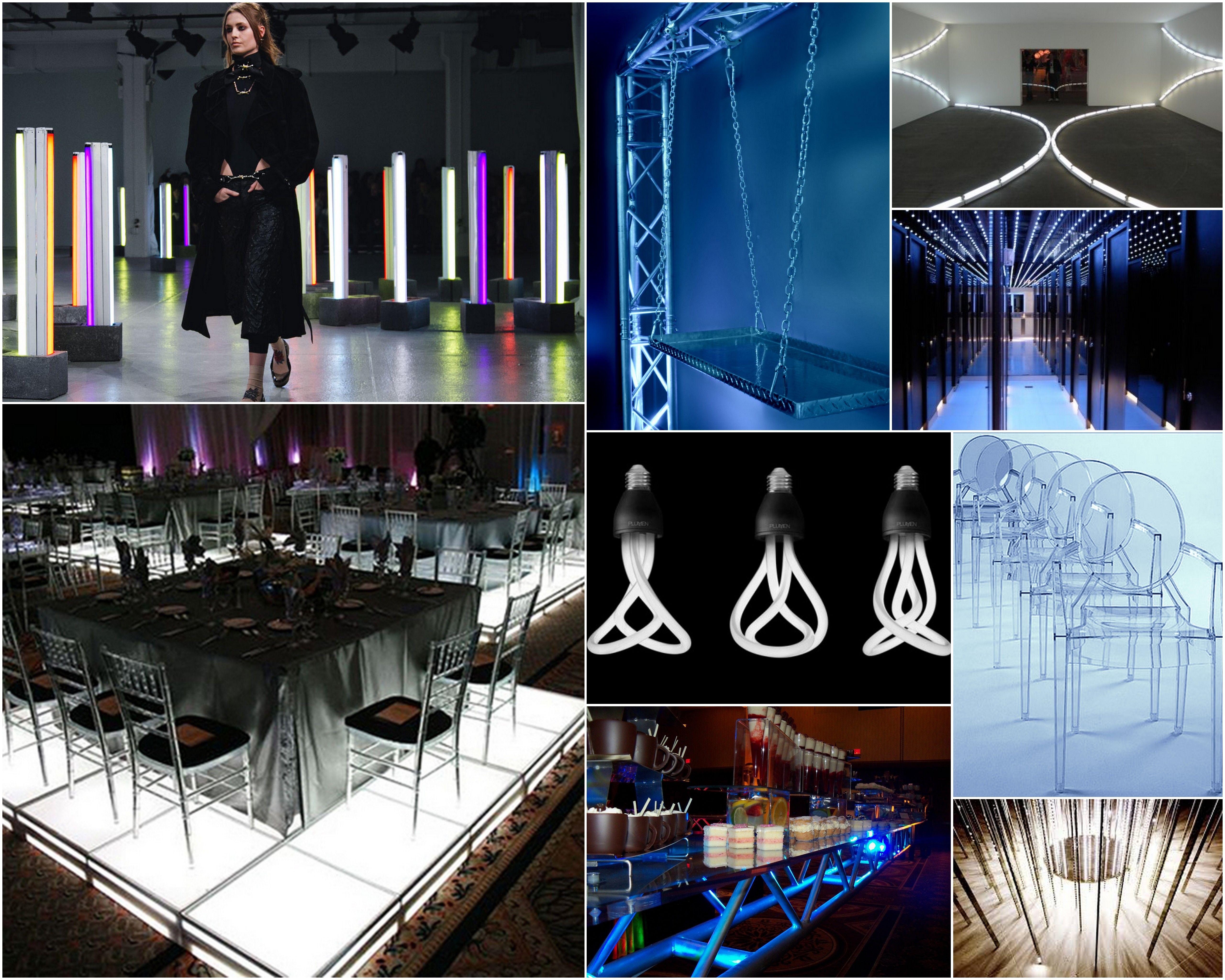 futuristic event decor inspiration for a forward thinking