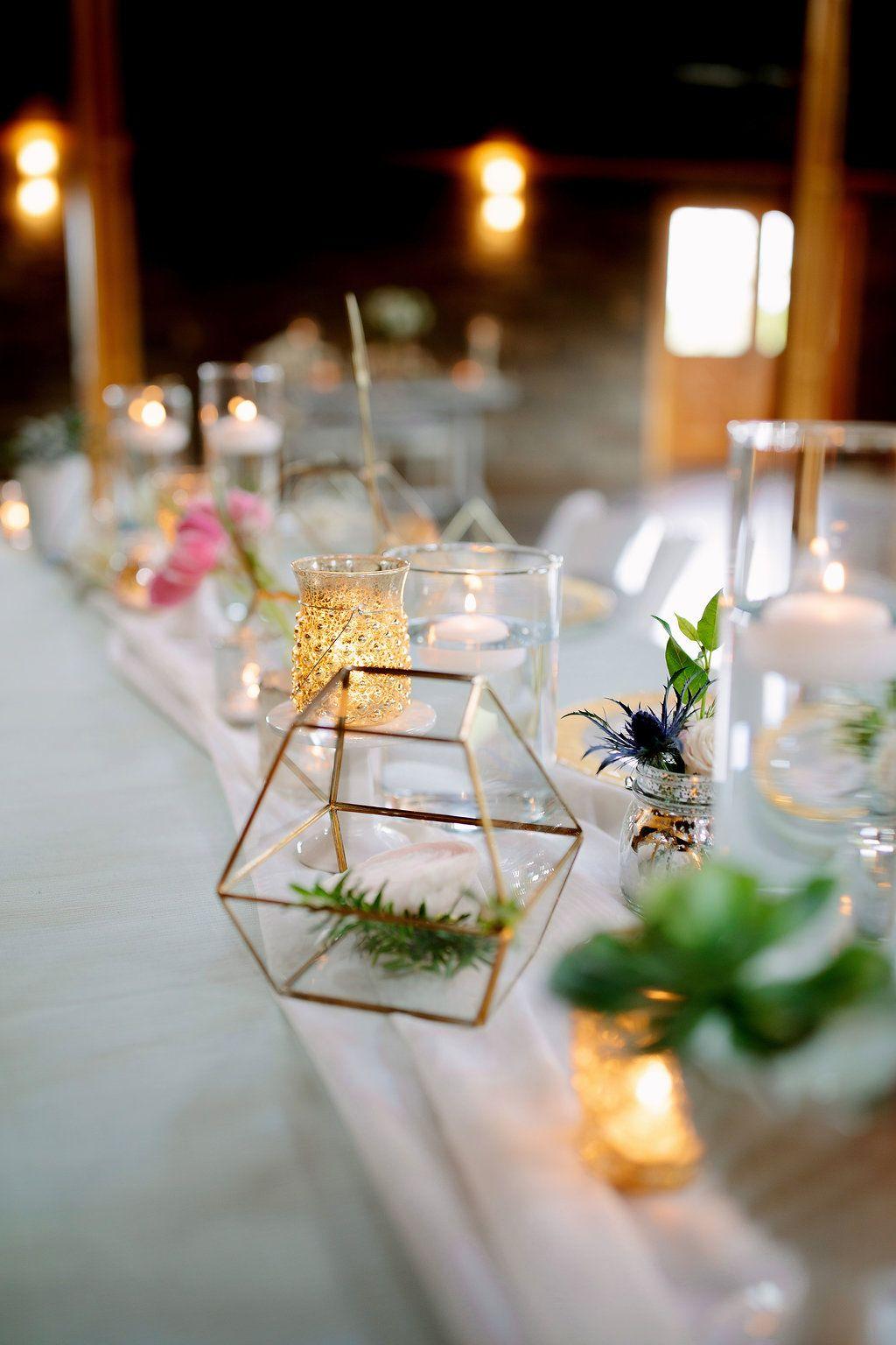 Reception table decor spring wedding ideas terrariums
