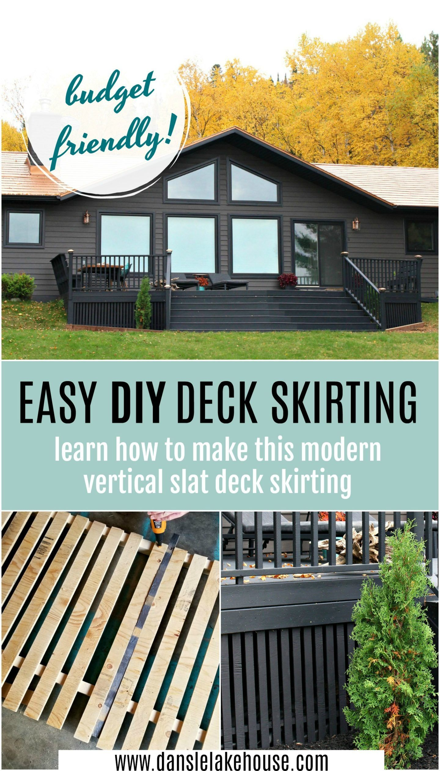 Modern Diy Vertical Slatted Deck Skirting Sponsored By The Home Depot Canada Dans Le Lakehouse Diy Deck Deck Skirting Modern Deck