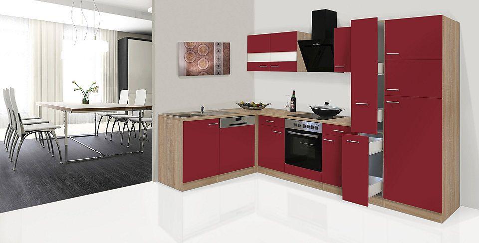 Respekta Küchenzeile mit E-Geräten »Hamburg, Breite 170 x 310 cm - küchenblock 270 cm