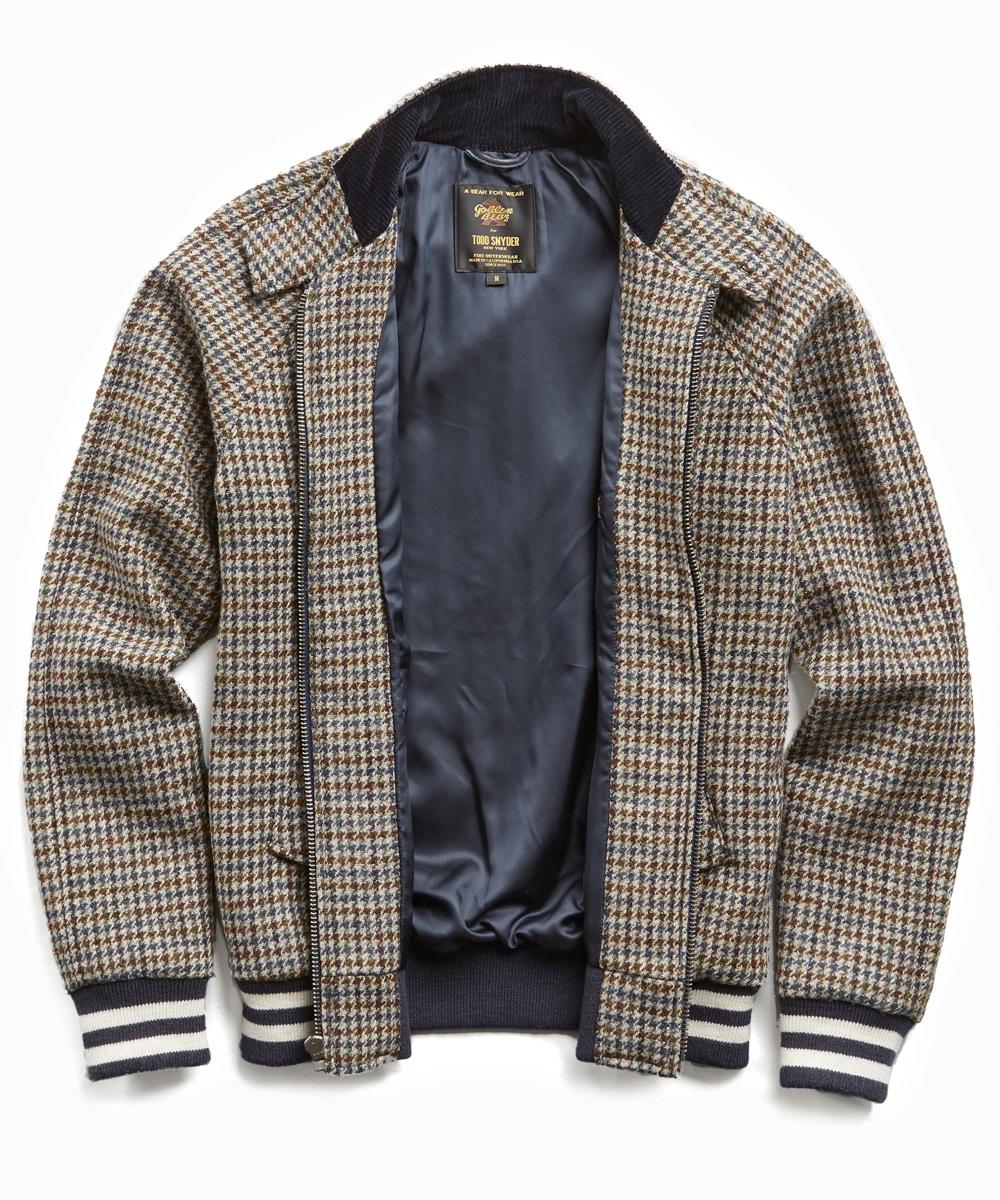 Exclusive Golden Bear Todd Snyder Harris Tweed Bomber Harris Tweed Jacket Harris Tweed Tweed [ 1200 x 1000 Pixel ]