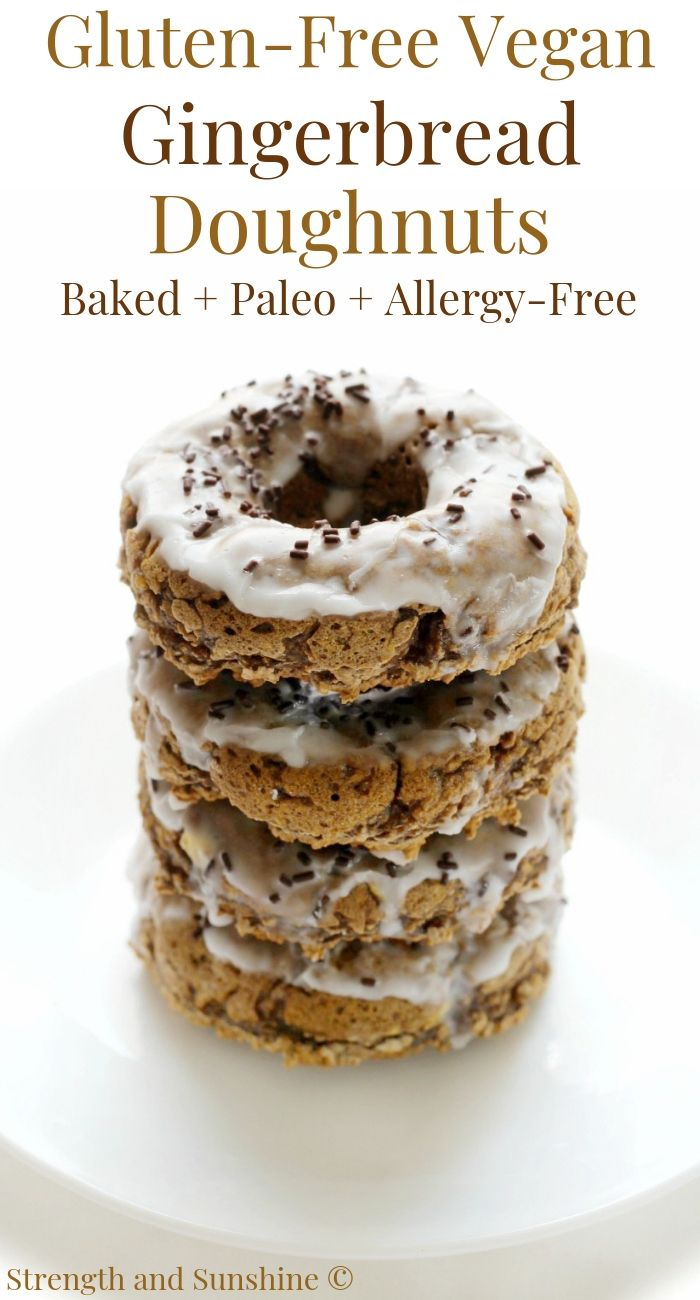 Baked Gluten Free Vegan Gingerbread Doughnuts Allergy Free Paleo