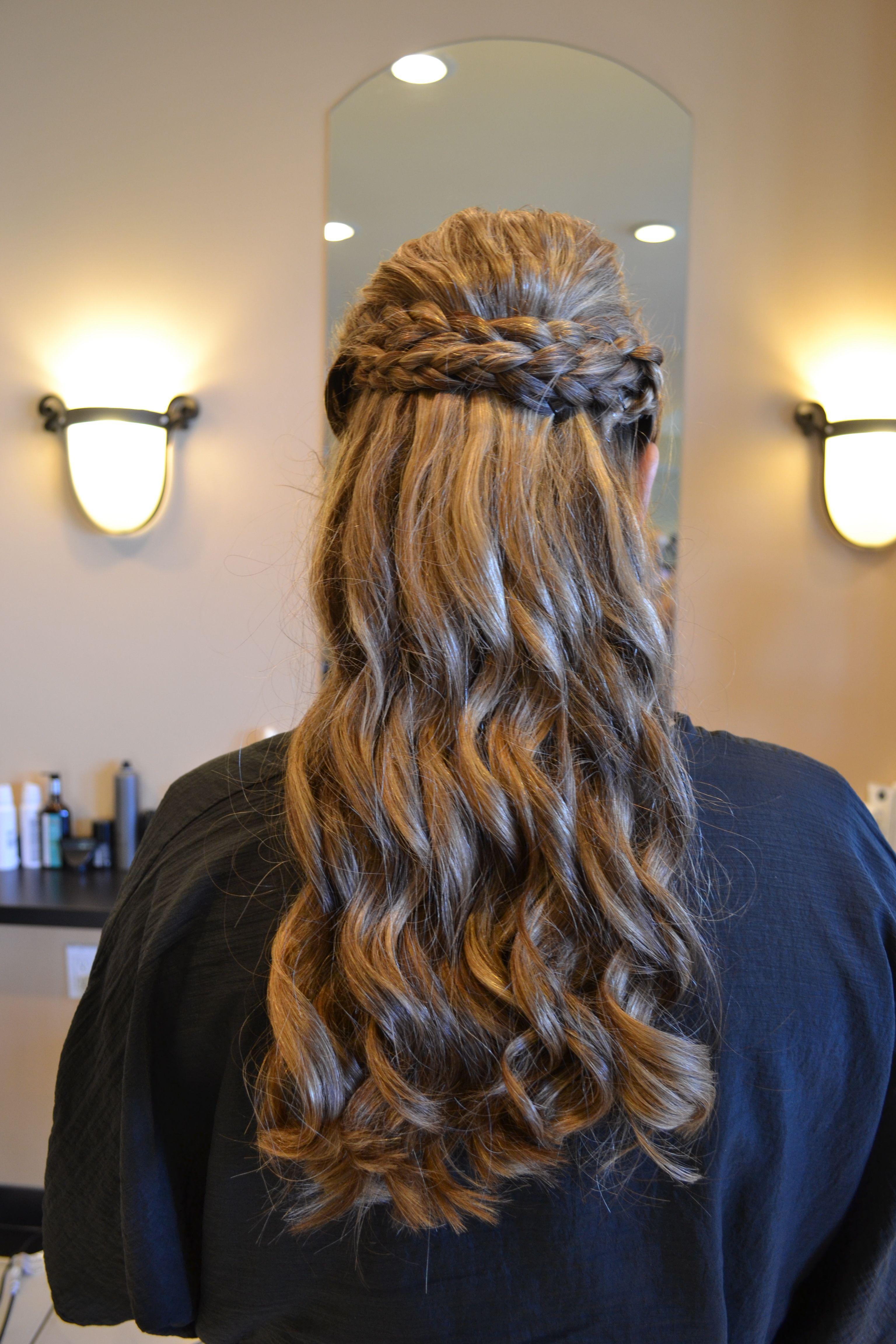 tara's bridesmaid hair example curly bridesmaid hairstyle