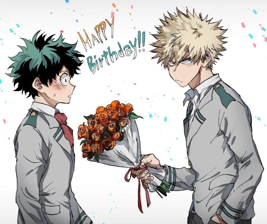 Happy Birthday Deku My Hero Academia Anime My Hero My Hero Academia