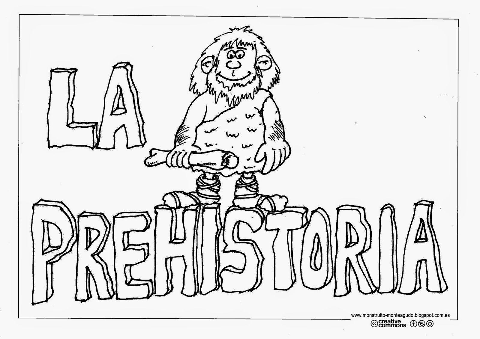 El Monstruito En Monteagudo La Prehistoria I Portada Y Evolución Prehistoria Prehistoria Primaria La Prehistoria Para Niños