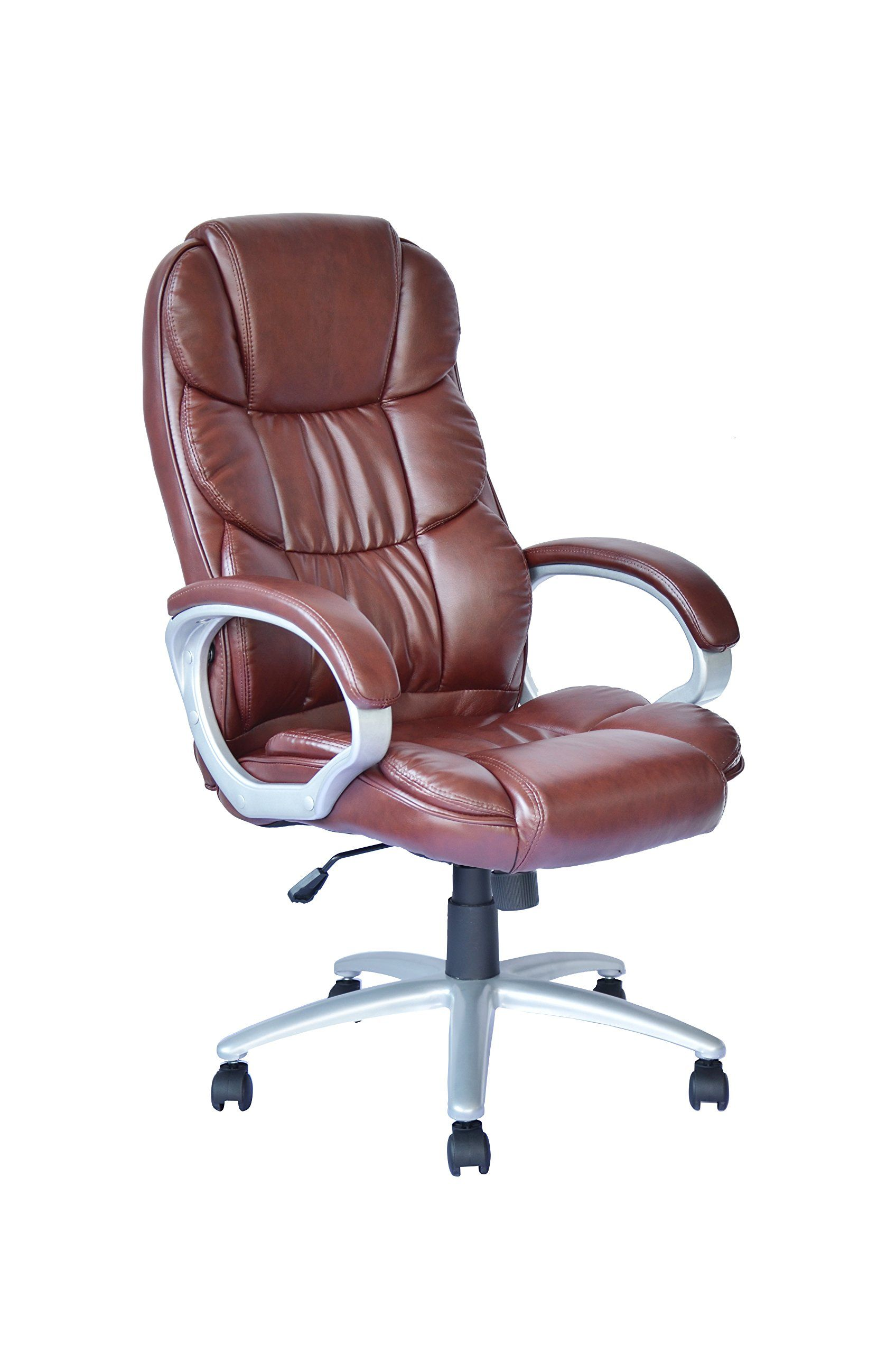 This Is The High Back Desk Chair In Brown That I Bought For The Desk In The Library Mark I With Images