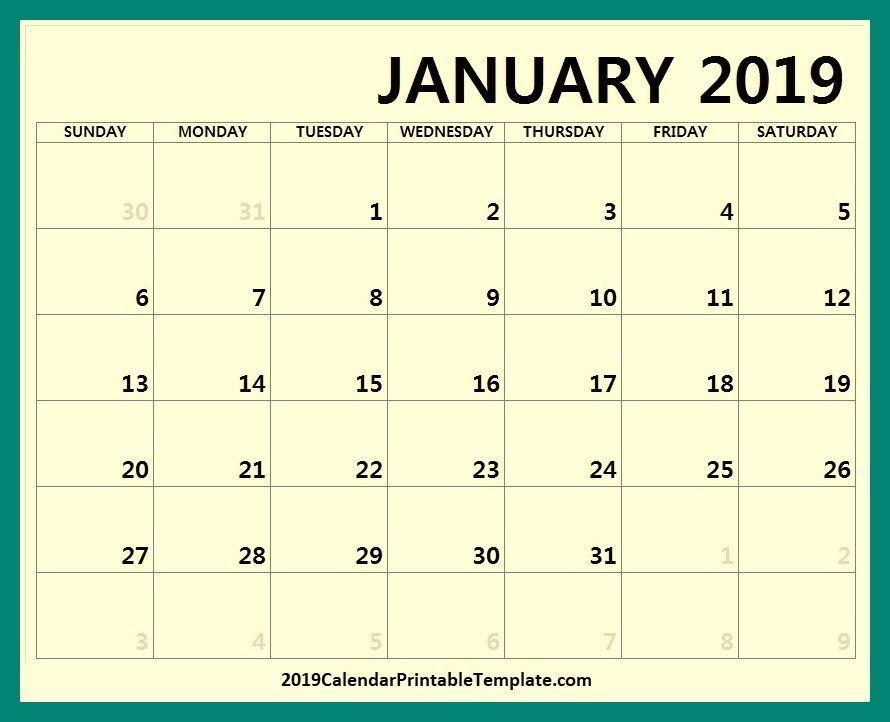January 2019 Calendar In Spanish Printable 2019 Calendar