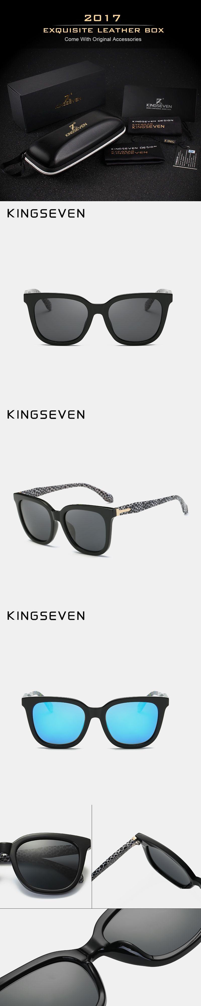 4f46962fcf0a KINGSEVEN olarized Sunglasses Thick Acetate Frame Polaroid Lens Summer  Style Brand Design Sun Glasses