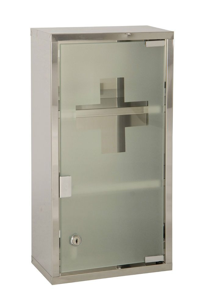 new product 2c3cc cdbd0 Details about Wall Mounted Lockable 2 Keys Large Medicine ...