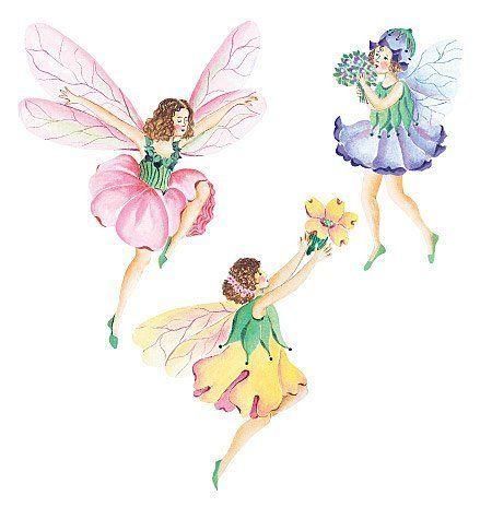 Flower Fairy Prepasted Wallpaper Cutouts By Wallies Http Www