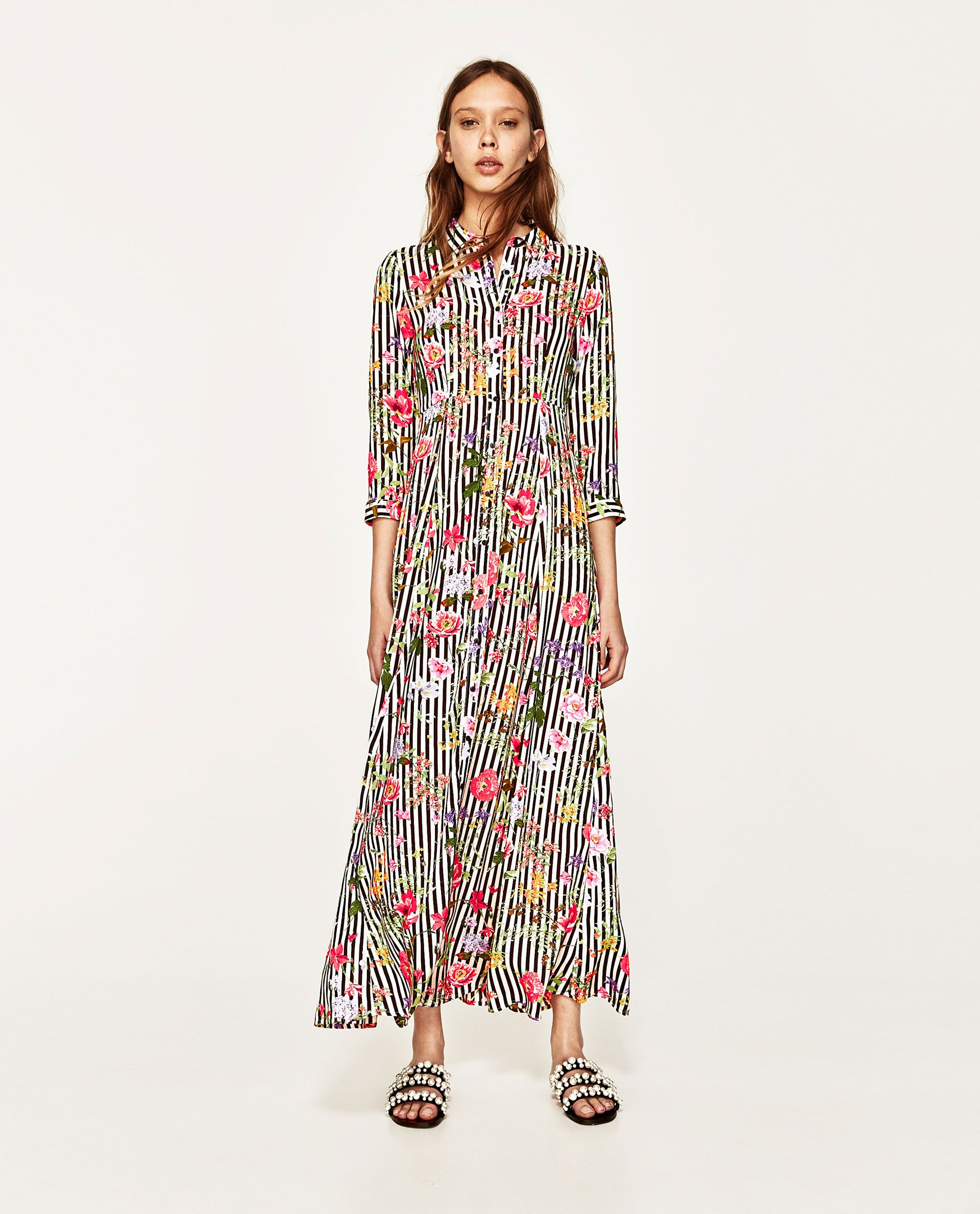 Image 1 of and floral print dress from zara vestidos