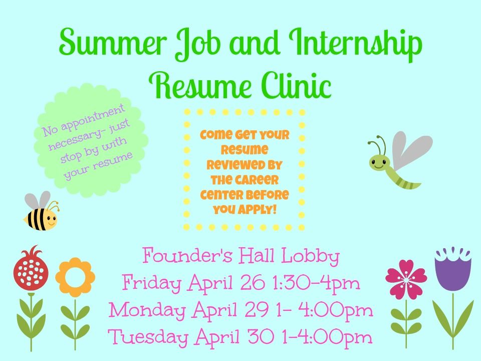 come get your resume reviewed during the career development