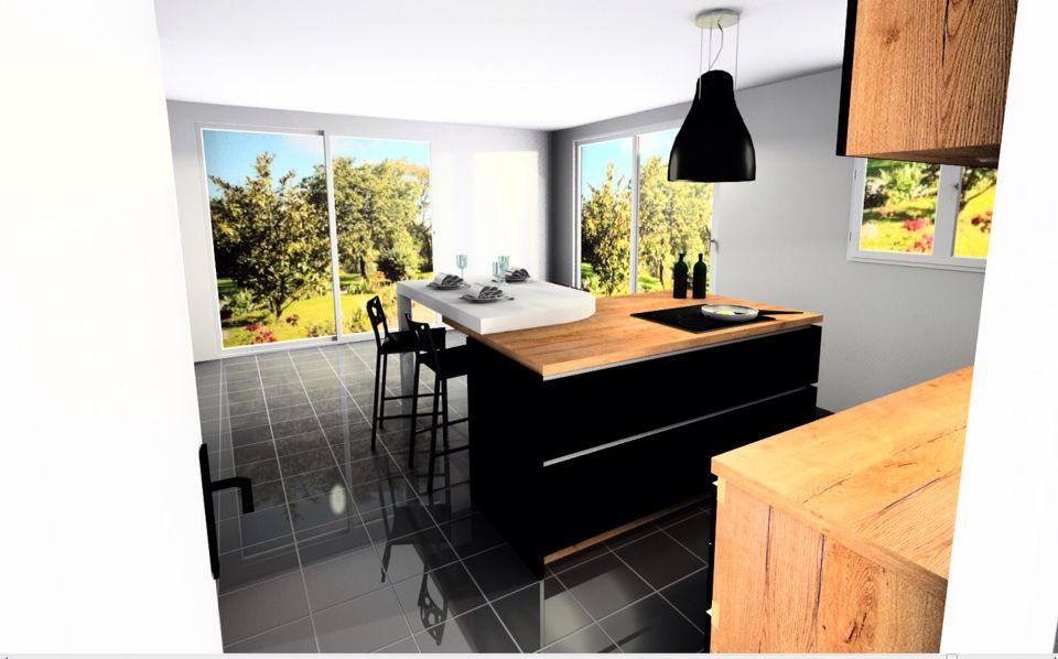 Cuisine Schmidt Nano Black Cognac Design By Camille Fenninger Cuisine Ouverte Idees Cuisine Maison