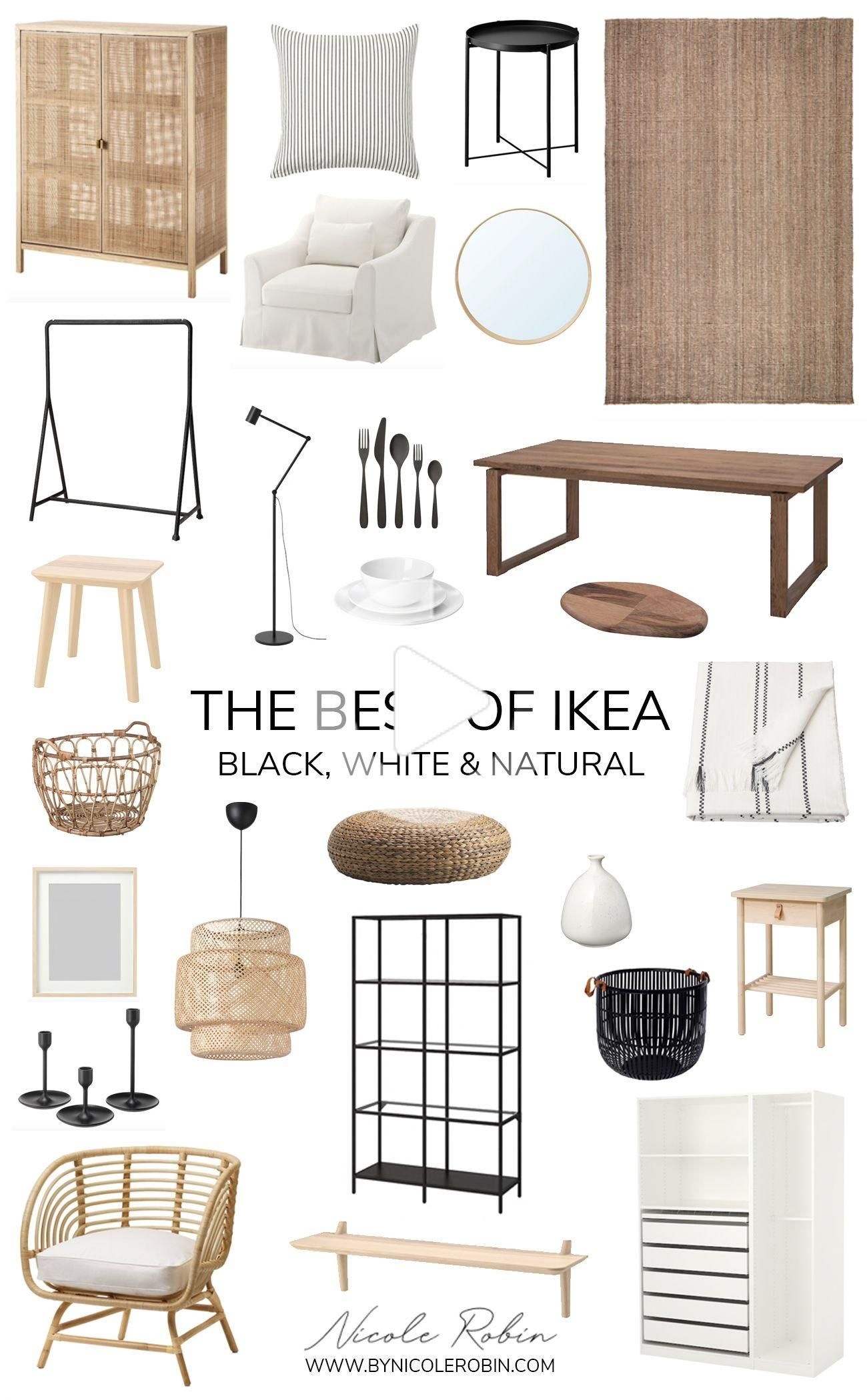 The Best of Ikea Black White & Natural Pieces That Look