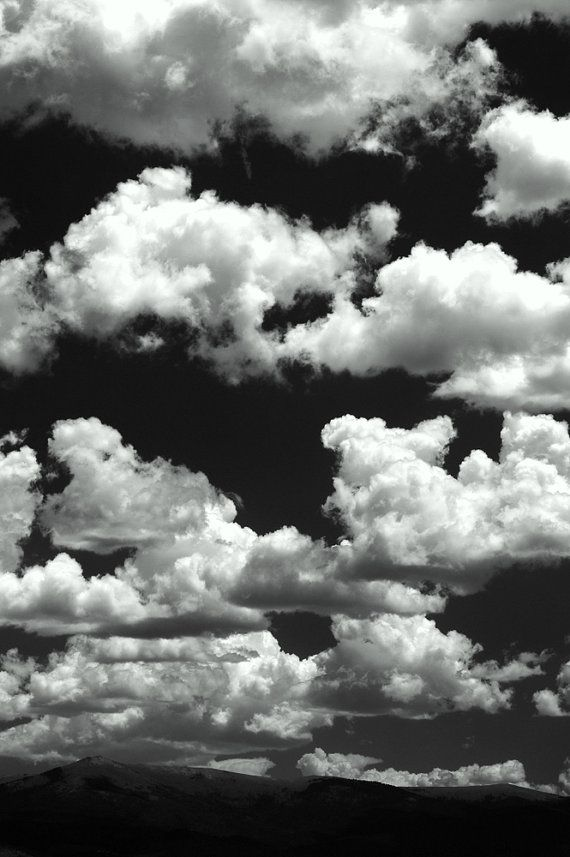 High Clouds Mountain Horizon Fluffy White Black And By Simplylodge 45 00 Black And White Picture Wall Black Aesthetic Wallpaper White Aesthetic Photography Black and white clouds wallpaper hd
