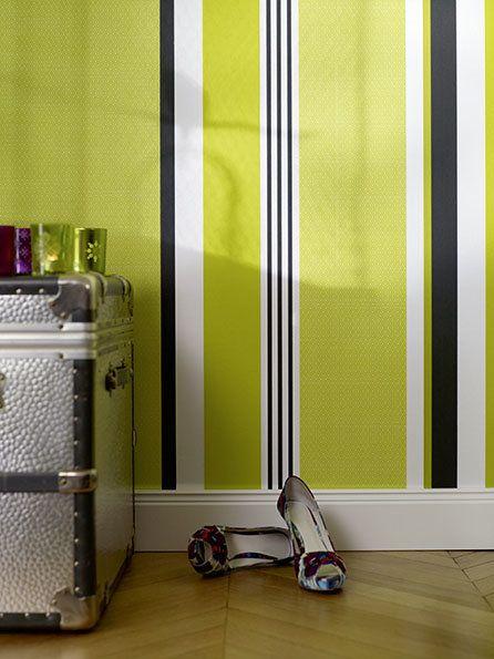 Wandgestaltung in Streifen Wände im Streifenkleid - wandgestaltung streifen ideen