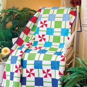 Bright and easy quilt - would be great to make for kids!